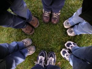 džínové boty