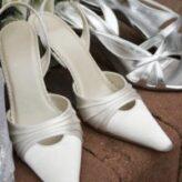 Bílé svatební boty