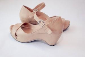 letní boty na klínku