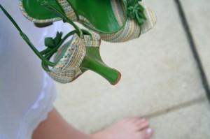 zelené boty